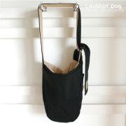 【ドッグスリング】カンガルーキャリーバッグふた付き BLACK