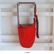 【ドッグスリング】カンガルーキャリーバッグふた付き RED