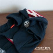 【ウエア】お出かけに。マリンスタイルのアンカージャケット 小型犬サイズ