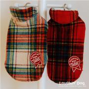 【アウター】2ステップかんたん着脱。愛犬を寒さから守るボアフリースジャケットチェック 小型犬サイズ