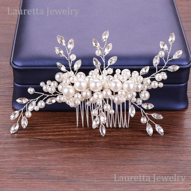 HA20007  ヘアアクセサリー ヘアコーム ヘアピン ヘッドピース 髪飾り かんざし パーティー 結婚式  成人式  卒業式 プロム ドレス 着物