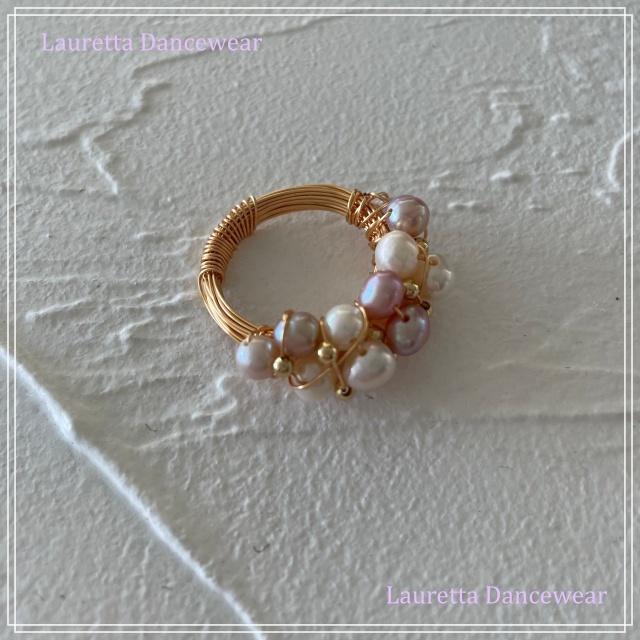 【ラウレッタ ジュエリー】AR10101 指輪 リング 天然淡水パール/18KGP ピンク系