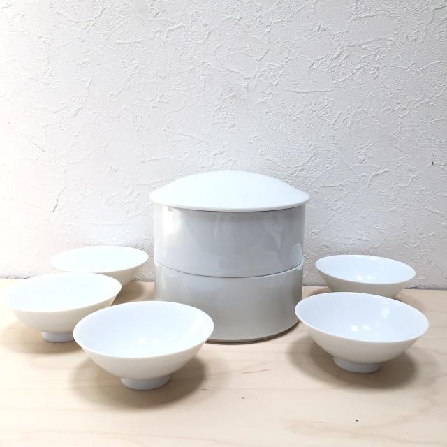 二段重とミニ茶碗のセット