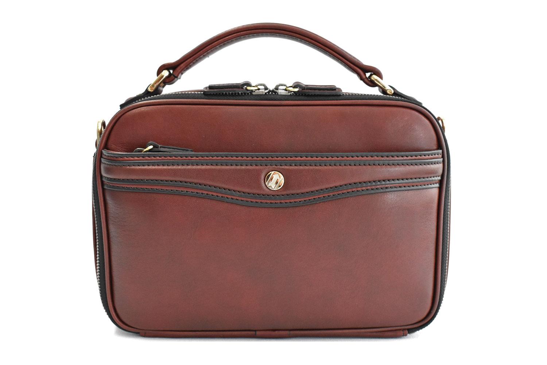 オックスフォード レザーメンズバッグ 「ゴールドファイル」 901109 バーガンディ 正面