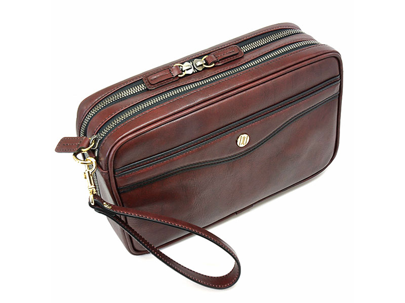 オックスフォード クラッチバッグ セカンドバッグ 「ゴールドファイル」 901203 バーガンディ 正面