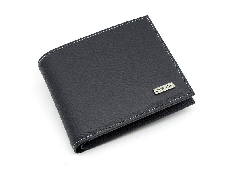 Superior(スペリオール) 二つ折り財布(小銭入れあり)  「ゴールドファイル」 GP24217 ネイビー 正面