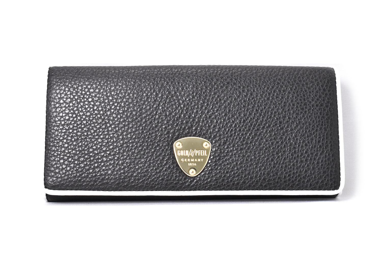 LINES(ラインズ) 長財布 「ゴールドファイル」 GP57015 クロ 正面