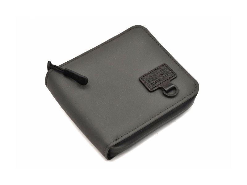 ACTIVE(アクティブ) アウトドアラウンドファスナー二つ折り財布 「プレリー1957」 NP00210 グレー 正面