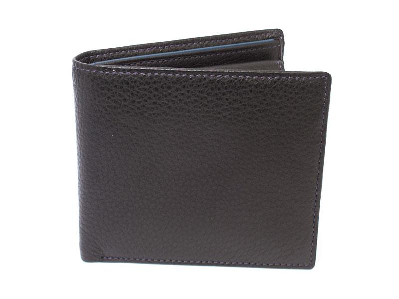 ItalianDeerskin (イタリアンディア) 二つ折り財布(小銭入れあり) 「プレリー1957」 NP17112 クロ 正面