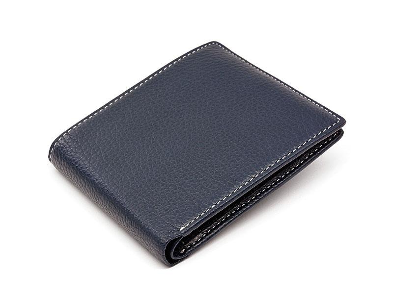 ItalianDeerskin (イタリアンディア) 二つ折り財布(小銭入れなし) 「プレリー1957」 NP17211 コン 正面