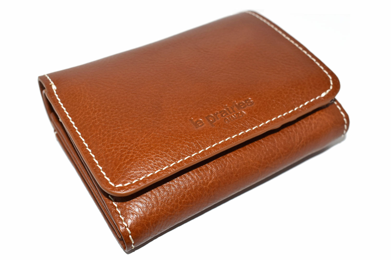 FAV(ファボ) 二つ折り財布(小銭入れあり) 「ル・プレリーギンザ 」 NP20213 キャメル 正面