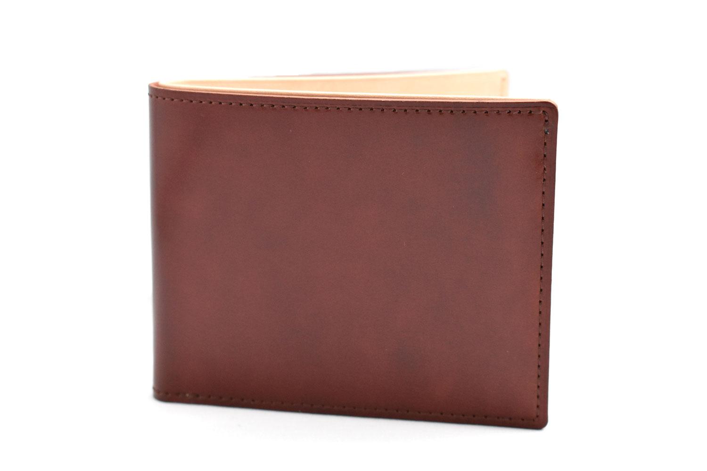 ナチュラルコードバン スマートコンパクト 二つ折り財布(小銭入れあり) 「プレリーギンザ」 NP47724 チョコ 正面