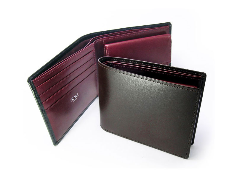 ボックスカーフヴェネチアン 二つ折り財布(小銭入れあり) 「プレリーギンザ」 NP56118 イメージ