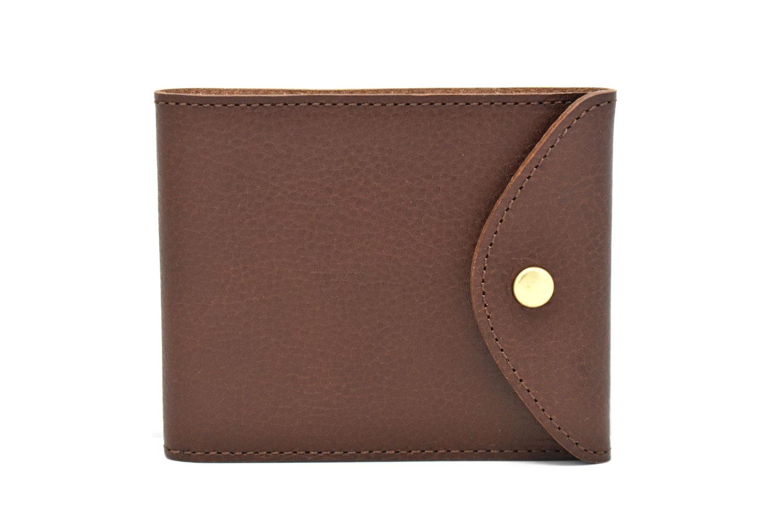 ミニマルクラシック 二つ折り財布(小銭入れなし) 「プレリーギンザ」 NP59117 ダークブラウン 正面