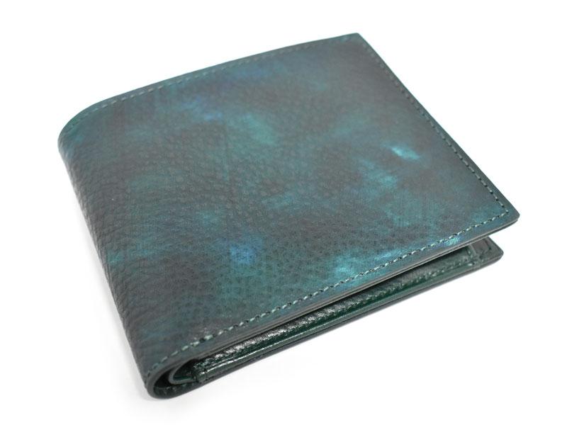 Patine2(パティーヌ2) 二つ折り財布(小銭入れあり) 「プレリーギンザ」 NP78119 グリーン 正面
