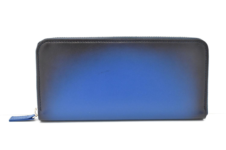Gradation(グラデーション) ラウンドファスナー長財布 「プレリーギンザ」 NP79022 ブルー 正面