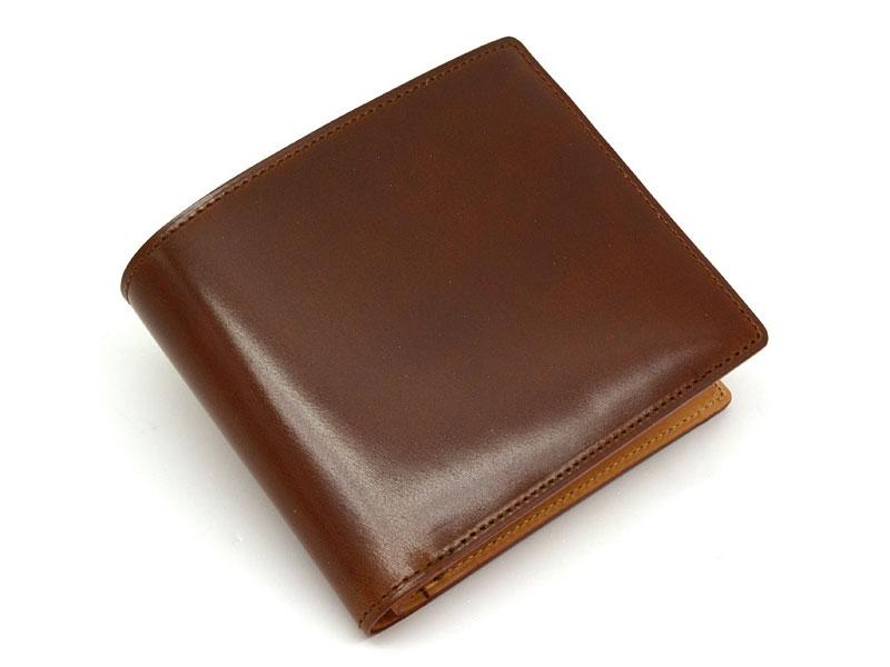 JUWEL Cordovan(ジュエルコードバン)  二つ折り財布(小銭入れあり) 「プレリーギンザ」 NPJ1135 チョコ 正面