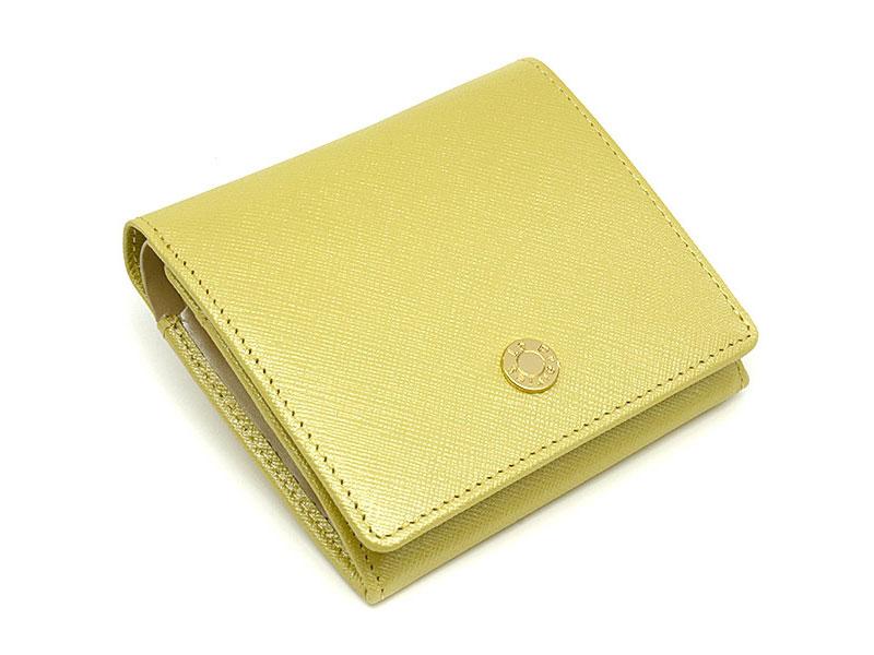 Bijue(ビジュー) 二つ折り財布(小銭入れあり) 「ル・プレリー 」 NPL1280 イエロー 正面