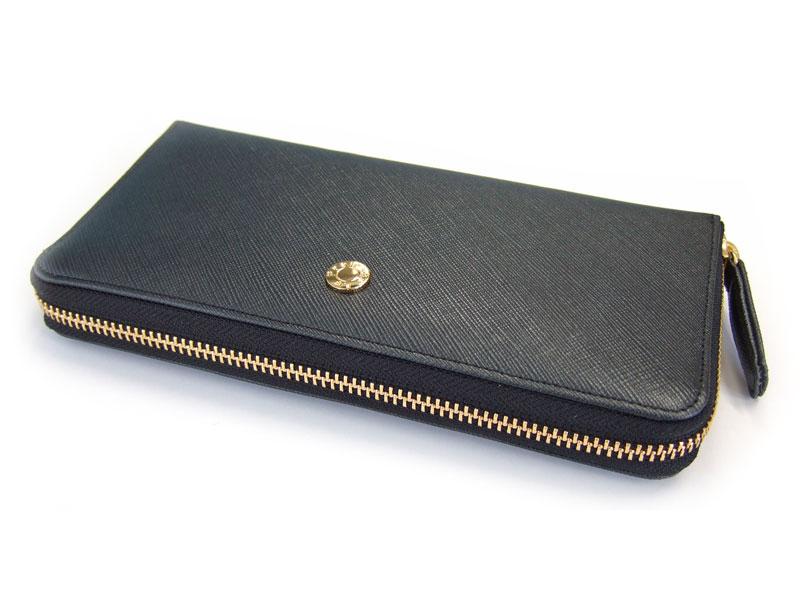 Bijue(ビジュー) ラウンドファスナー長財布 「ル・プレリー 」 NPL1413  クロ 正面