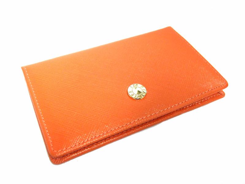 Bijue(ビジュー) カードケース 「ル・プレリー 」 NPL1755  オレンジ 裏面