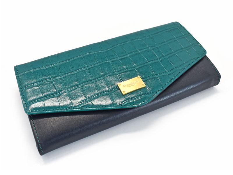 Fascino(ファッシノ) 長財布 「ル・プレリーギンザ 」 NPL3015 グリーン 正面