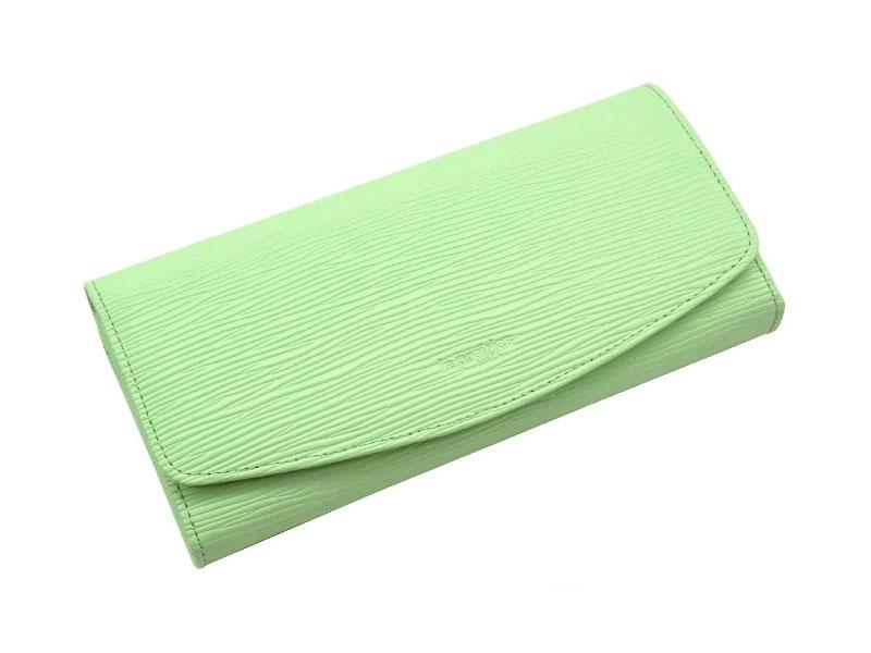 Refined(リファイン)長財布 「ル・プレリーギンザ」 NPL5014 ライトグリーン 正面