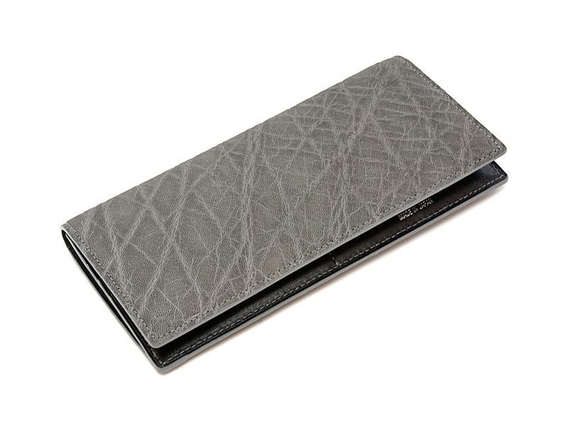 GINZAエレファント 長財布(小銭入れあり) 「プレリーギンザ」 NPM1040 グレー 正面