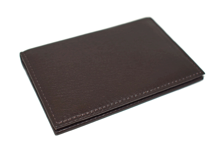 Glove high soft leather(グローブハイソフトレザー) 薄型名刺入れ「プレリーギンザ」 NPM4385 チョコ 正面