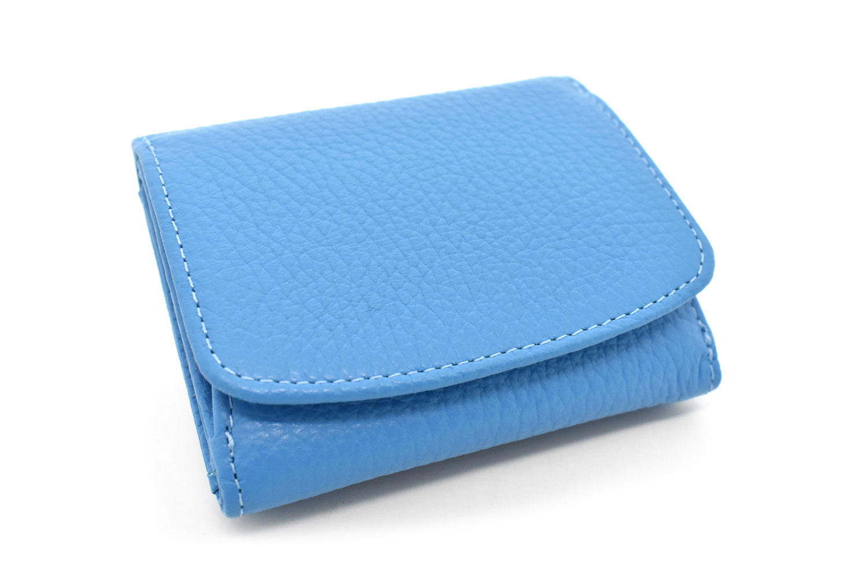 Comodity(コモディティ)三つ折り財布  「ル・プレリーギンザ」 NPS5570 ブルー 正面