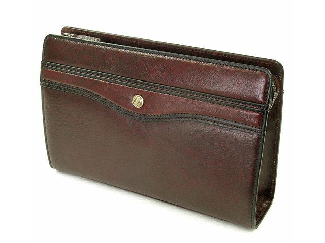 オックスフォード クラッチバッグ セカンドバッグ 「ゴールドファイル」 901201 バーガンディ 正面