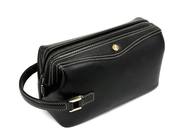 オックスフォード クラッチバッグ セカンドバッグ 「ゴールドファイル」 901202 ブラック 正面