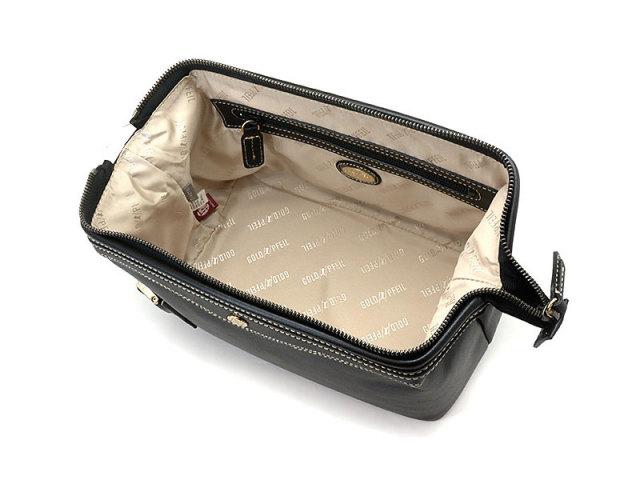 オックスフォード クラッチバッグ セカンドバッグ 「ゴールドファイル」 901202 ブラック 内作り