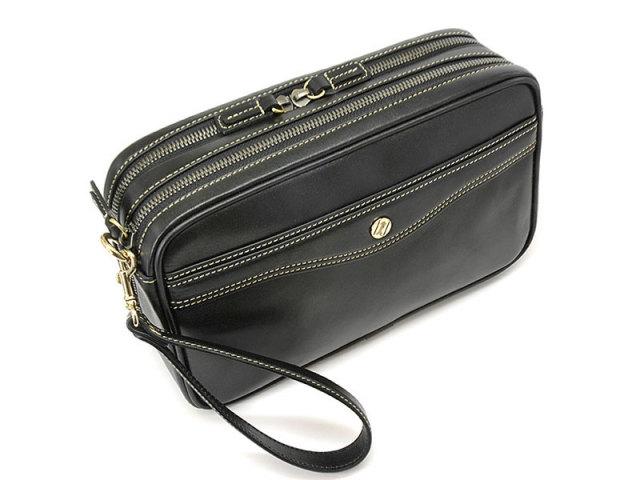 オックスフォード クラッチバッグ セカンドバッグ 「ゴールドファイル」 901203 ブラック 正面