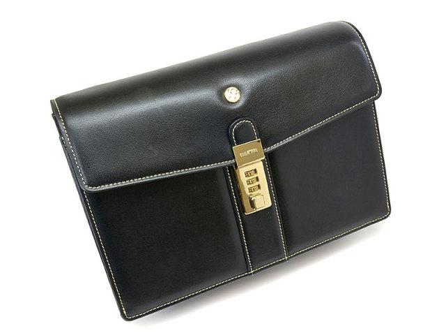 オックスフォード クラッチバッグ セカンドバッグ 「ゴールドファイル」 901205 ブラック 正面