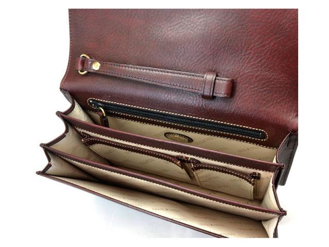 オックスフォード クラッチバッグ セカンドバッグ 「ゴールドファイル」 901205 バーガンディ 内作り