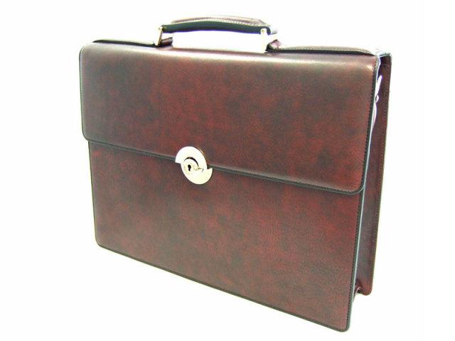 オックスフォード ブリーフケース 「ゴールドファイル」 901503 バーガンディ 正面