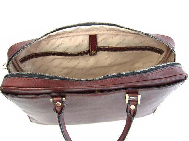 オックスフォード B4ビジネスバッグ 「ゴールドファイル」 901504 バーガンディ 内装