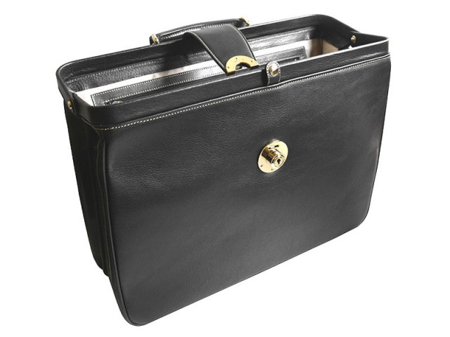 オックスフォード ダレスバッグ 「ゴールドファイル」 901506 ブラック 正面