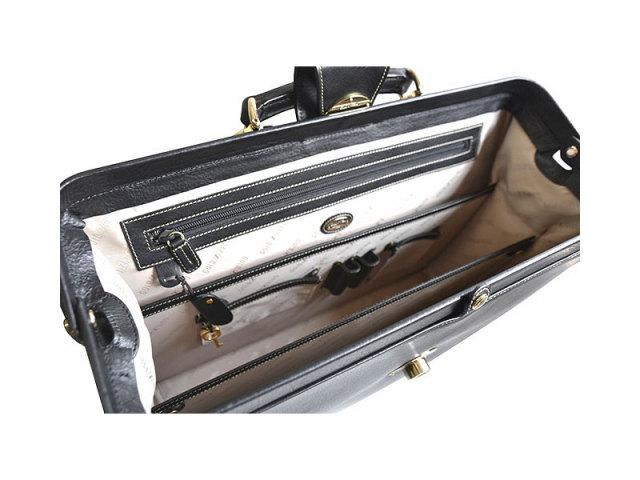 オックスフォード ダレスバッグ 「ゴールドファイル」 901506 ブラック 内装