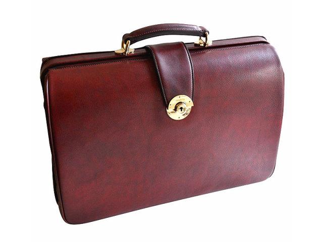 オックスフォード ダレスバッグ 「ゴールドファイル」 901506 バーガンディ 正面