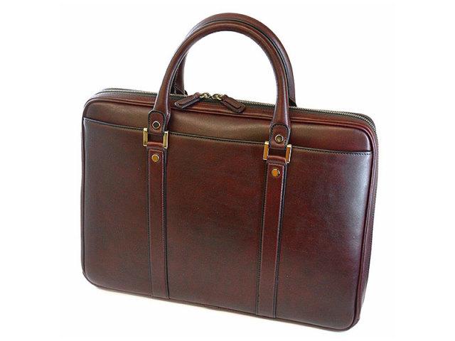 オックスフォード ビジネスバッグ 「ゴールドファイル」 901507 バーガンディ 背面