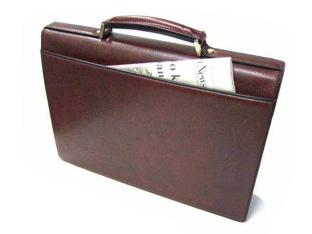 オックスフォード A4ブリーフケース  「ゴールドファイル」 901508 背面ポケットイメージ画像