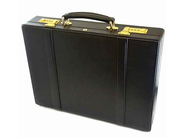 オックスフォード アタッシュケース 「ゴールドファイル」 901509 ブラック 正面