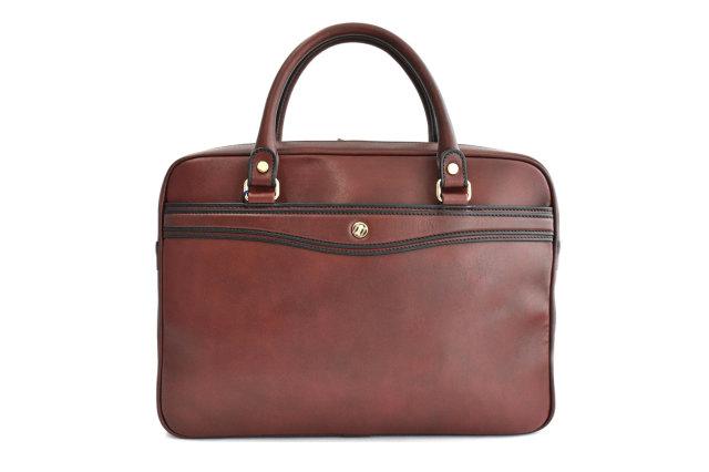 オックスフォード レザーメンズビジネスバッグ A4ジャストサイズ 「ゴールドファイル」 901513 バーガンディ 正面