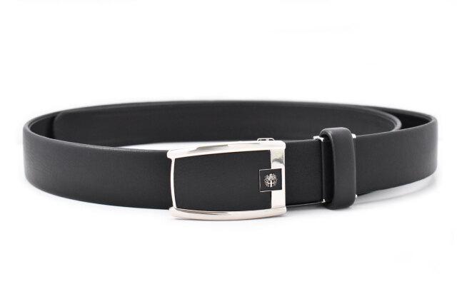 牛革 袋縫無双ビジネスベルト スライドバックル式 「ダックス」 DB28510 クロ 正面