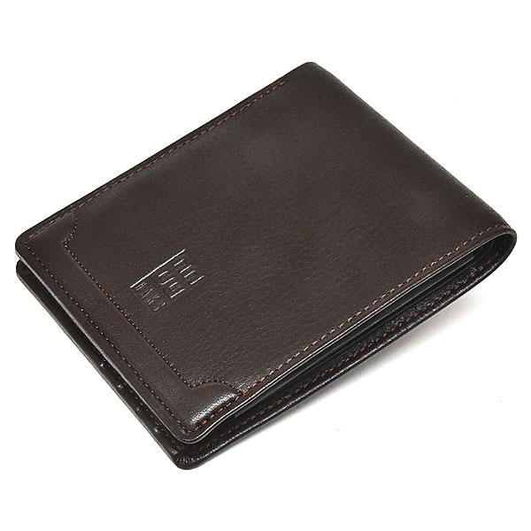 PRESTIGE(プレステージ) 二つ折り財布(小銭入れなし)  「DAKSダックス」 DP20911 チョコ 正面