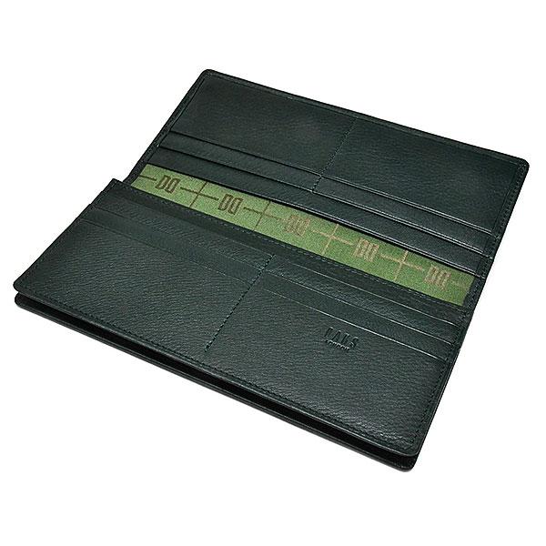 PRESTIGE(プレステージ) 長財布(小銭入れなし)  「DAKSダックス」 DP21017 グリーン 内作り