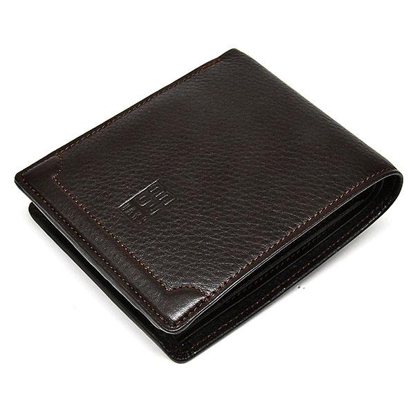 PRESTIGE(プレステージ) 二つ折り財布(小銭入れあり)  「DAKSダックス」 DP21213 チョコ 正面