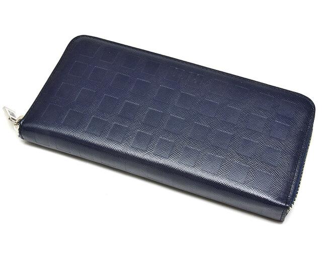 Checker emboss(チェッカーエンボス) ラウンドファスナー長財布  「DAKSダックス」 DP25917 コン 正面