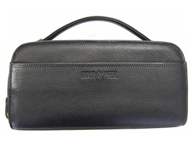 オリジン Wファスナーセカンドバッグ 「ゴールドファイル」 GA18035 横置き